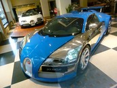 See a Blue Buggatti at my birthday party