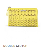 Double Citrine Clutch Perf  Reg $89 ~ Sale $45