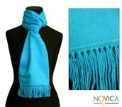 Bufandas de lana alpacca o material de tipo spandex