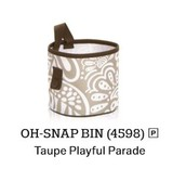 Oh Snap Bin in Taupe Playful Parade