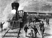 רכבת במהלך נסיעה
