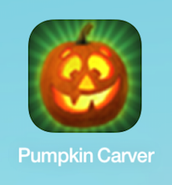 2. open your iPad and find the app Pumpkin Carver