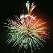 Green color in fireworks
