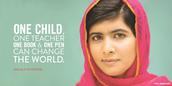 Malala lucha por la educación