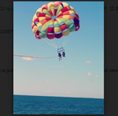 Me parasailing with my bestie