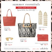 July and August Trunk Show Exclusive Offers
