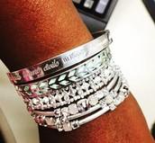 Silver & Mint Arm Party