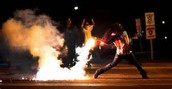 The scene in Ferguson Missouri