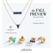 Element Necklace & Lapis/Turquoise Déjà Vu Stone Studs