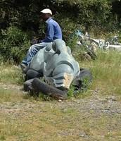 Sculptors at work sculpture park