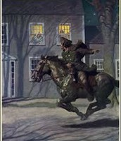 paul revere riding his horse to warn patriots
