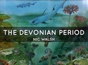 This shows a couple fish from the Devonian Period