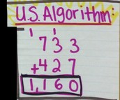 U.S. Standard Algorithm - Addition