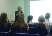 Joan Saslow, NY, vem a Belém a Ministra Treinamento para os Professores do CCBEU