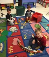 Making Trains and building with Duplos