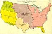 Territorial gain throughout the years of the United States