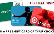 $25 Gift Card Of Your Choice!