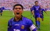 Maradonna at the soccer game in FIFA 1994