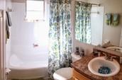 Bright Bathroom Space.
