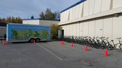 We received a grant to have the mobile bike trailer at our school