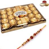 Rakhi with 24 Pcs Ferrero Rochers