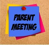 Next Parent Meeting - January 13th