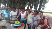 Ladies from the weekly morning prayer group having a lovely braai at the vlei