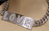 LOVE choker necklace