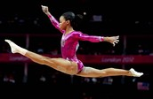 When she was competing to be in the Olympics.