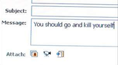 An example of cyberbullying
