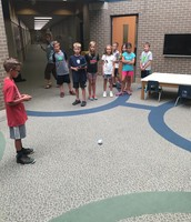 One of our students teaching other students about our SPHEROS!