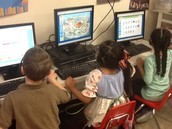 Learning with technology in Mrs. Reischman's classroom.