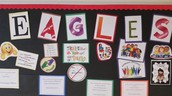 EAGLES exemplars shout out board