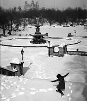 Neige a Central Park, New York, 1964