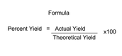 Formula on how to find % Yield