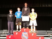 Bryson Rhamy Wrestling at 189 lbs With a 3rd place