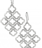 Signature Clover earrings, silver - SOLD!!