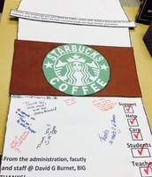 Thanks to Starbucks for donations!