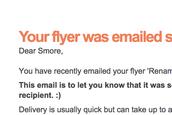 Success emails