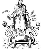 Cronus, as Poseidon's father
