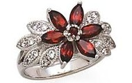 Ruby white gold dress ring
