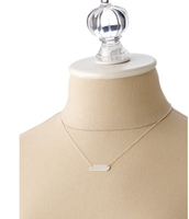 "Silver ""#CHEER"" bar necklace $30"