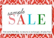 SAMPLE SALE: 1st come, 1st dibs, no returns or exchanges, all sales final