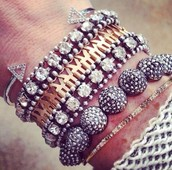 Sparkly Silver & Gold