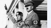 Hitler and Benito Mussolini
