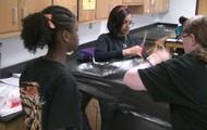 Students Making Kites
