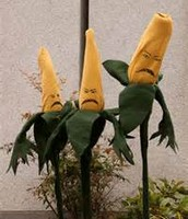 dead corn people on a stick