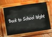 Back To School Night:     September 22, 2016
