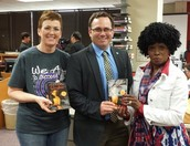Odessa Council for Arts and Humanities delivers Coraline Books to Bowie 7th Gr AVID Students