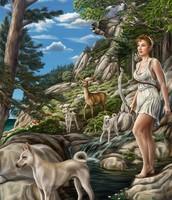 Artemis with animals